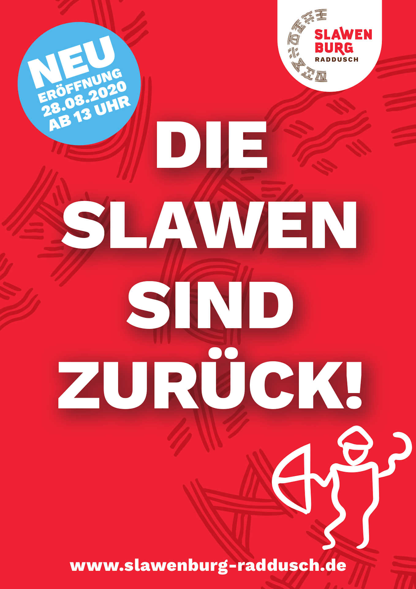 Die Slawen sind zurück - Neueröffnung der Slawenburg, Plakat Ö Grafik