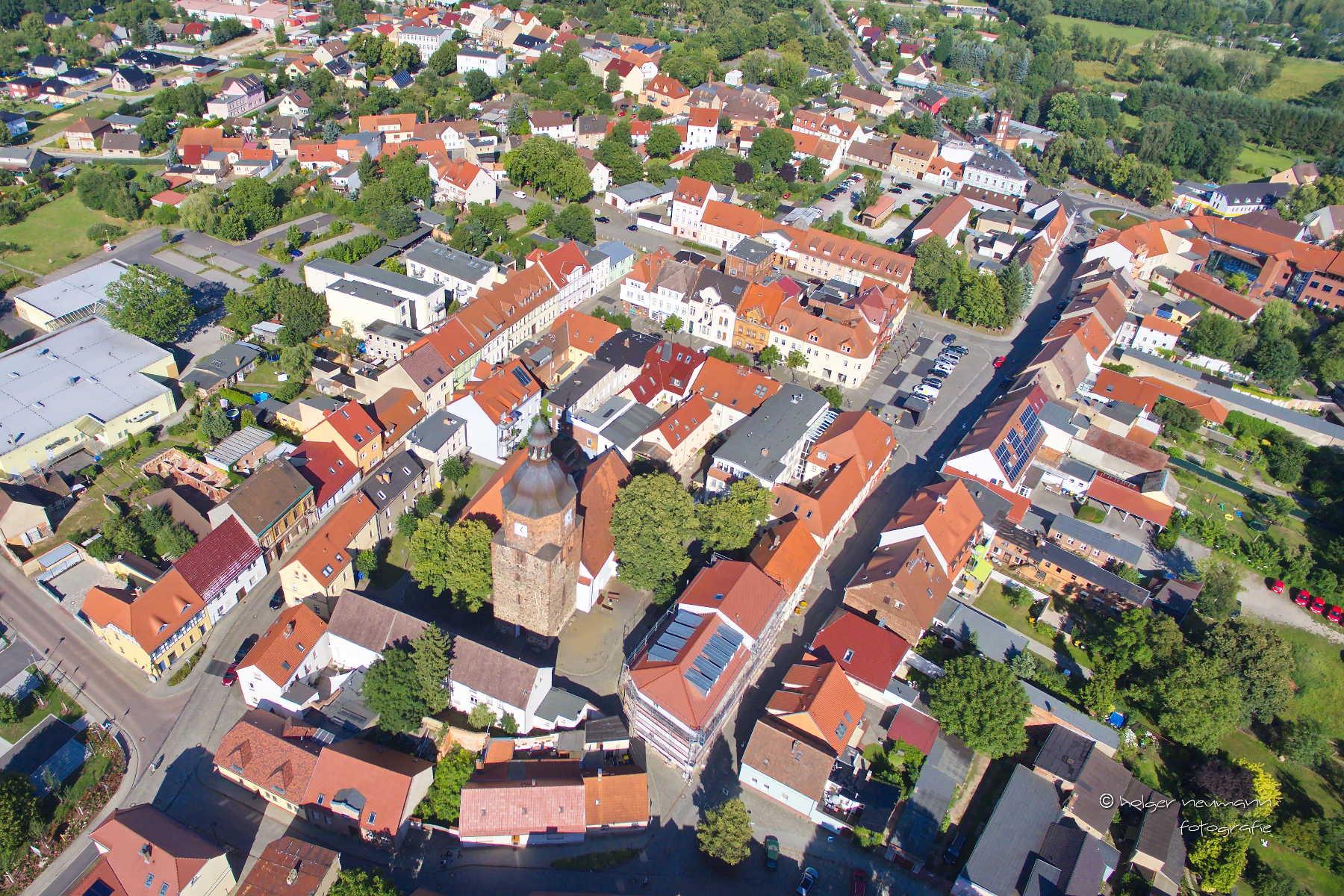 Vetschauer Altstadt von oben, Foto: Holger Neumann
