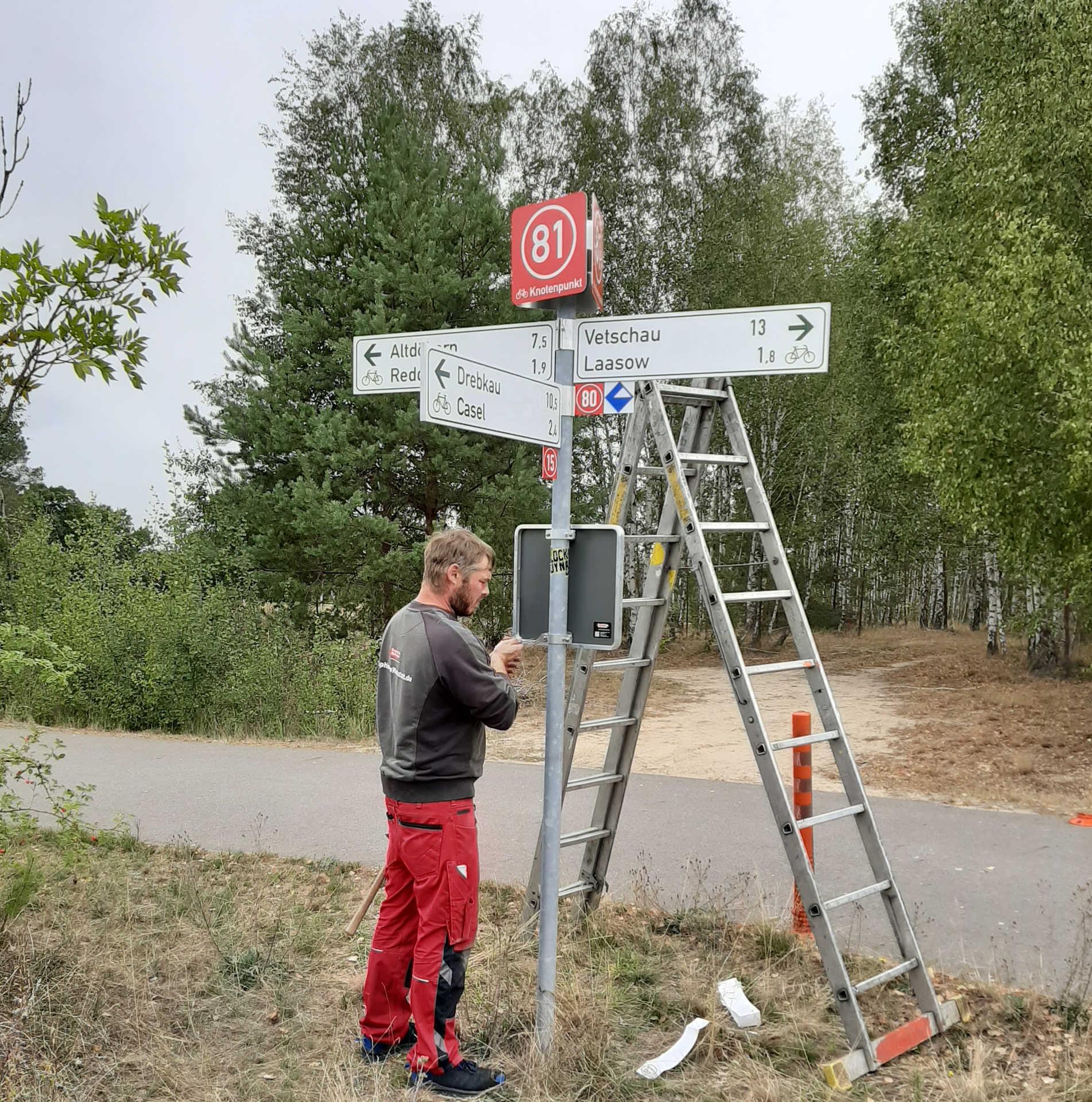 Knotenpunktwegweisung im Landkreis OSL, Foto OSL