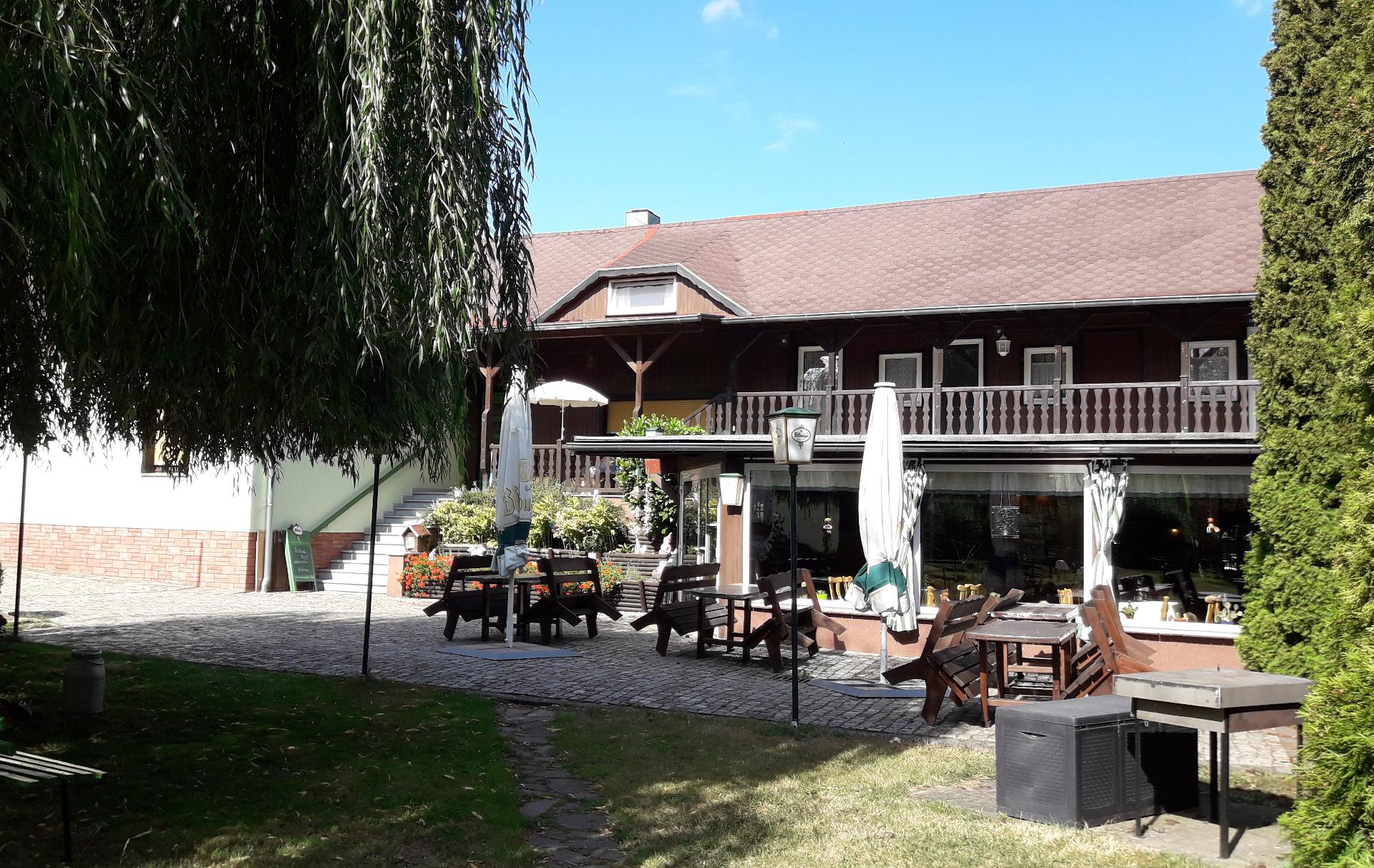 Einladende Terrasse am Storchennest Spreewald